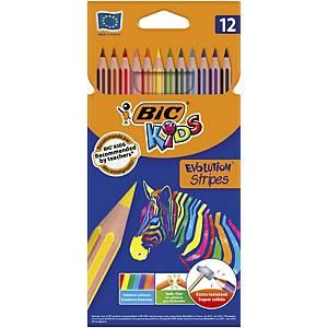 PK12 lápices colr bic evolution 1mm