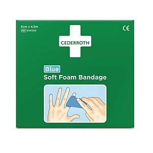 Plaster Cederroth selvhæftende Soft Foam Bandage blå