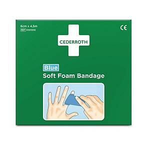 CEDERROTH SOFT FOAM BANDGE 6CMX4.5M BLUE