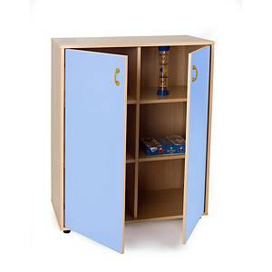 Mueble medio armario de 6 casillas MOBEDUC puertas azul