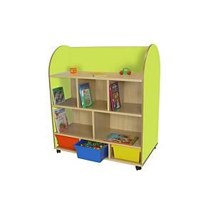Mueble Expositor Libros ovalado verde
