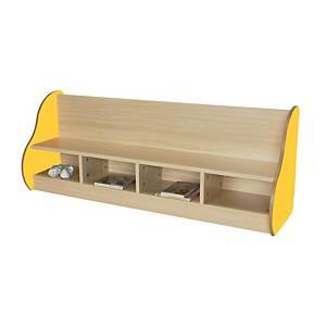 Banco para 4 niños Mobeduc - amarillo