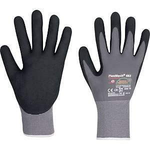 Mechanikschutzhandschuhe KCL FlexMech 663, Größe 10, grau/schwarz, 10 Paar