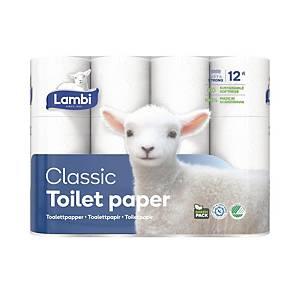 Toiletpapir Lambi 41930, pakke a 12 ruller