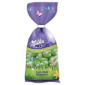 Milka paaseitjes, melkchocolade met hazelnootvulling, 100 g