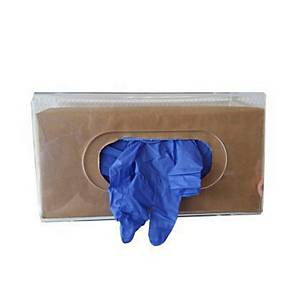 CMT 3398 transparante muurdispenser voor 1 doos wegwerphandschoenen