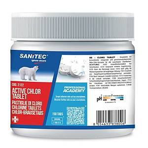 Pastiglie igienizzanti a base cloro Sanitec Active Chlor tablet - conf. 150