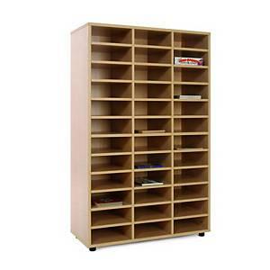 Mueble medio con casillero de 36 casillas Mobeduc - haya