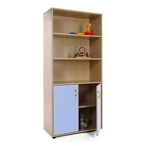 Mueble alto armario y estanteria MOBEDUC color azul
