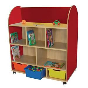 Mueble ovalado expositor de libros Mobeduc - rojo
