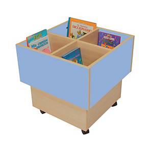 Cubo librería MOBEDUC color azul
