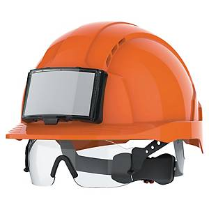 Hełm z okularami JSP Evolite CR2, pomarańczowy, 1 sztuka