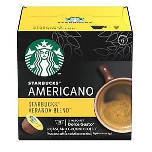 STARBUCKS by NESCAFÉ Dolce Gusto 美式咖啡黃金烘焙咖啡膠囊 - 12粒裝