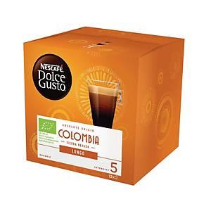 NESCAFÉ 雀巢 Dolce Gusto 濃黑咖啡 哥倫比亞單品咖啡-12粒裝