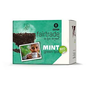 Oxfam green tea mint 2 grams - pack of 20