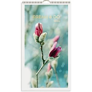 Vægkalender Mayland 0665 30, måned, 2020, 25 x 45 cm