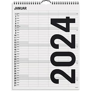 Vægkalender Mayland 0665 00, måned/familie, 2020, 6 kolonner, 29,5 x 39 cm