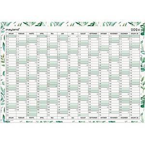 Kalender Mayland 0656 00, 12 måneder, 2021, 99,5 x 69,5 cm, whiteboard