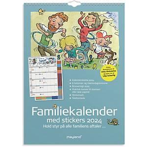 Kalender Mayland 0662 50, måned/familie, 2021, 6 kolonner, A3
