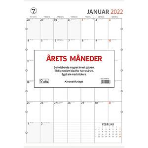 Kalendere Årets Måneder veggkalender 29 x 41,5 cm