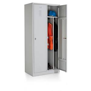 Vestiaire industriel Eol avec 2 portes, l 83 x H 180 x P 50 cm, gris clair