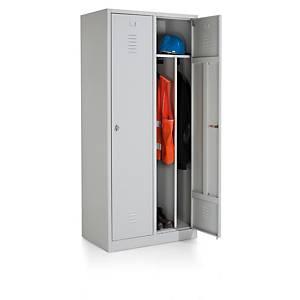 Eol industriële locker met 2 deuren, B 83 x H 180 x D50 cm, lichtgrijs