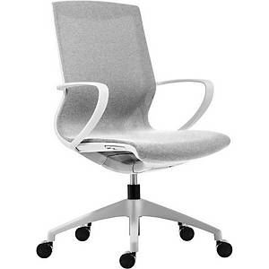 Antares Vision Bürostuhl, elfenbeinweiß & weiß
