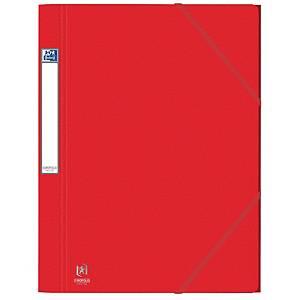 Elastikmappe Elba, 3-klap, 600 g, A4, rød