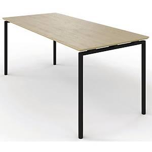 ZIGNAL CANTEEN TABLE 120X80 BEECH W/BLK