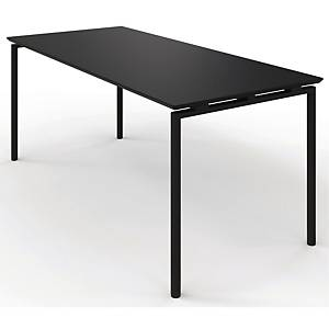 ZIGNAL CANTEEN TABLE 120X80 BLACK W/BLK