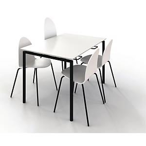 Kantinebord Zignal med stoleophæng 120 x 80 cm hvid
