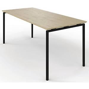 ZIGNAL CANTEEN TABLE 180X80 BEECH W/BLK