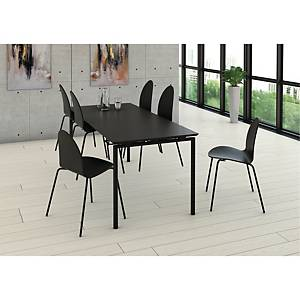 Matsalsbord Zignal med stolsupphängning 180 x 80 cm svart