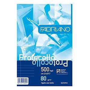 Carta protocollo uso bollo Fabriano A4 80 g/mq - risma 500 fogli