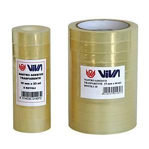 Nastro adesivo Viva Crystal 19 mm X 33 m - conf. 8