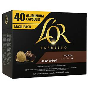 L OR COFFEE CAPSULES FORZA PACK OF 40