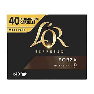 Capsules de café L Or espresso FORZA, le paquet de 40