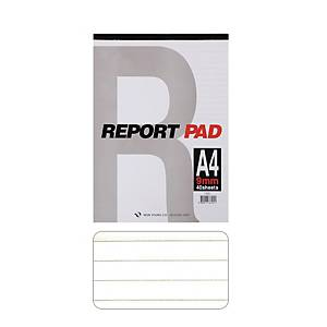 GEUNYOUNG REPORT PAD A4 RUL 9MM 40SHT
