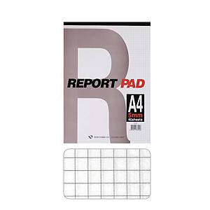 GEUNYOUNG REPORT PAD A4 SQR 5MM 40SHT