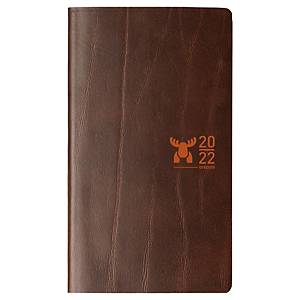 Agenda de poche Brepols Interplan 736 avec couverture en cuir Moose, brun