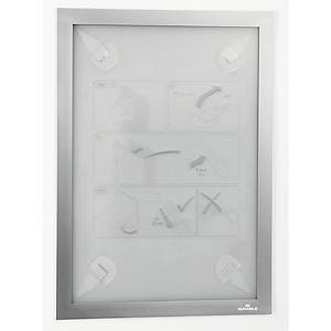 Inforamme med selvklæbende strips Durable Duraframe, A4, sølv