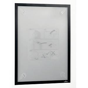Inforamme med selvklæbende strips Durable Duraframe, A3, sort