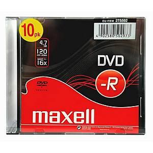 DVD-R Maxell 4.7 GB con slimcase - conf. 10