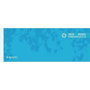 Ajasto Memo viikkomuistio 2020 255 x 95 mm sininen