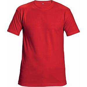 Tričko s krátkym rukávom Cerva Teesta, veľkosť 2XL, červené