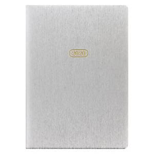 Letts Sparkle Week To View Desk Diary Silver A5
