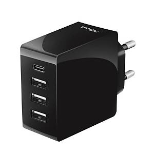 TRUST 22029 WALL CHARGER 4 USB-C/USB-A