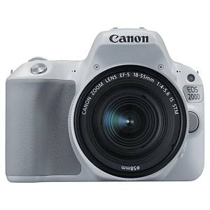 Reflex numérique Canon EOS 250D blanc et objectif 18-55mm