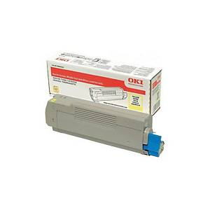 Oki 46490401 Laser Toner Cartridge Yellow