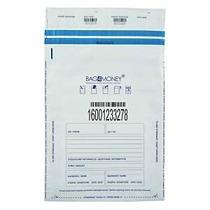 Koperty bezpieczne BAG 4 MONEY B4 białe, 100 sztuk